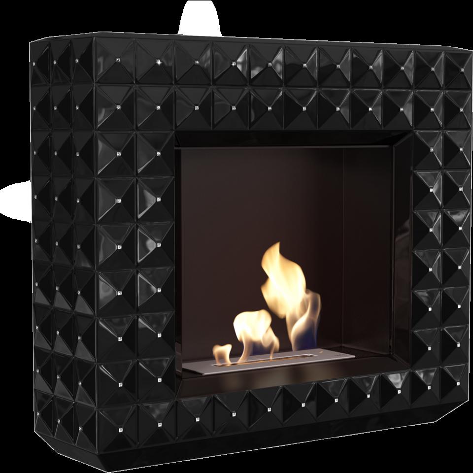 EGZUL z kryształkami Swarovski czarny połysk